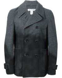 Comme des Garçons - Gray Spray Painted Peacoat for Men - Lyst