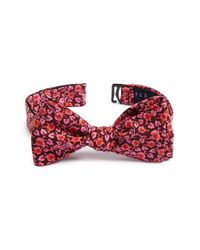 Ted Baker | Blue 'kensington Floral' Silk Bow Tie for Men | Lyst