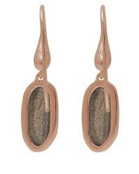 Monica Vinader - Pink Rose Gold-plated Labradorite Vega Drop Earrings - Lyst