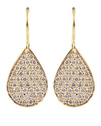 Irene Neuwirth - Pink Diamond Pear Shaped Drop Earrings - Lyst