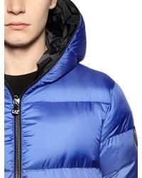 EA7 | Blue Total Zip-Up Nylon Ripstop Down Jacket for Men | Lyst