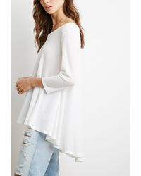 Forever 21 - Natural Waffle Knit Trapeze Top You've Been Added To The Waitlist - Lyst