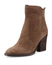 Aquatalia - Brown Farah Suede Ankle Boot - Lyst