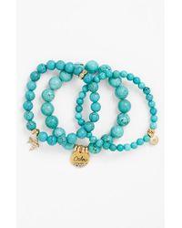 Sequin | Blue Beaded Stretch Bracelets | Lyst