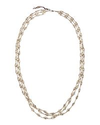 Nakamol | Metallic Silver Metal Three-Strand Necklace | Lyst