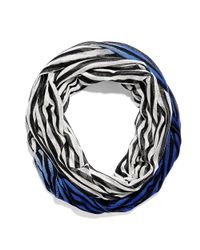 Vince Camuto | Blue Stripe Dip Dye Infinity Scarf | Lyst