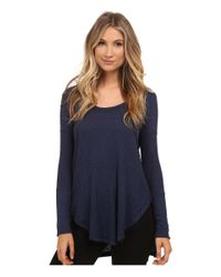 Free People - Blue Drippy Thermal Ventura Thermal - Lyst