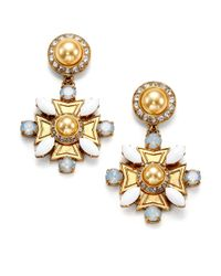Tory Burch | Metallic Selma Drop Earrings | Lyst