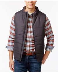 Weatherproof - Black Vintage Full-zip Puffer Vest for Men - Lyst