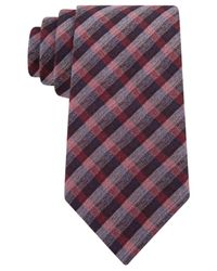 Michael Kors | Gray Collection Brushed Gingham Tie for Men | Lyst