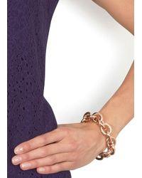 Eddie Borgo - Metallic Rose Gold Crystal Embellished Chain Bracelet - Lyst