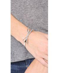 kate spade new york - Metallic Skinny Mini Bow Bangle Bracelet - Lyst