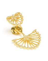 Yvonne Léon | Metallic Diamond Foliage Lobe Earring | Lyst