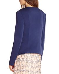BCBGeneration - Blue Open-front Jacket - Lyst