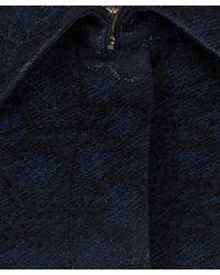 Edit - Blue Navy Short Peplum Jacquard Jacket - Lyst