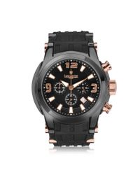 Lancaster - Bongo Chrono Men's Stainless Steel Watch W/ Black Rubber Strap for Men - Lyst