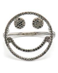 Rosa De La Cruz | Black Smiley Face Diamond Ring | Lyst