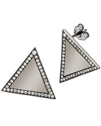 Alexa Leigh | Black Large Triangle Earring | Lyst