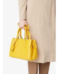Mango - Yellow Zip Tote Bag - Lyst