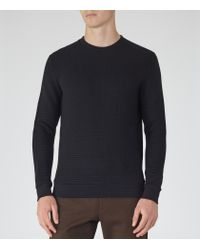 Reiss | Blue Hatter Quilted Jumper for Men | Lyst