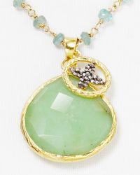 Coralia Leets - Green Chrysoprase Pendant Necklace 27 - Lyst