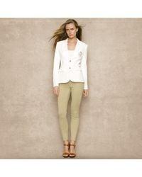 Ralph Lauren Blue Label - White Customfit Fleece Blazer - Lyst