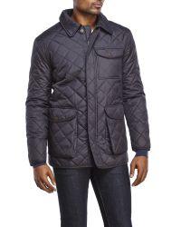 Hart Schaffner Marx | Blue Diamond Quilted Zip Jacket for Men | Lyst