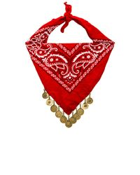 Vanessa Mooney | Red The Harper Coin Bandana Necklace | Lyst