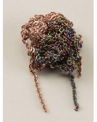 Arielle De Pinto - Metallic Crochet Chain Earrings - Lyst