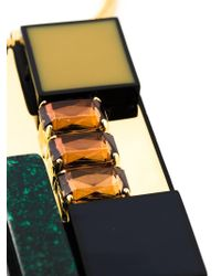 Marni - Multicolor Rectangular Pendant Necklace - Lyst
