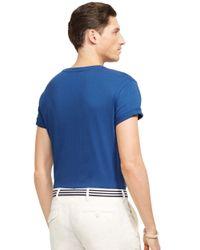 Polo Ralph Lauren   Blue Jersey V-Neck for Men   Lyst