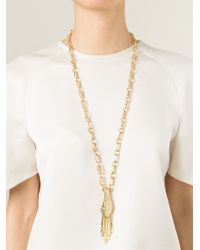 Aurelie Bidermann - Metallic 'iroquois' Long Necklace - Lyst