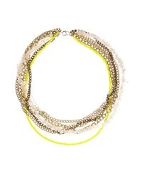 Kat&bee - Metallic Florence Necklace - Lyst