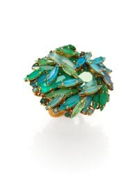 Aerin Erickson Beamon - Green Jeweled Cluster Ring - Lyst