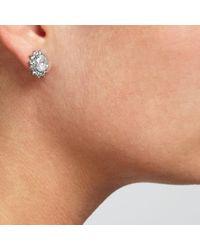 John Lewis | Metallic Cubic Zirconia Cushion Stud Earrings | Lyst