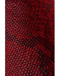 Vans - Red Classic Chili Pepper Pebble Snake Slip-on Sneakers - Lyst