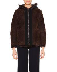 Callens - Brown Reversible Shearling Jacket - Lyst