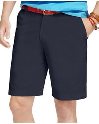Izod | Blue Saltwater Flat-front Shorts for Men | Lyst