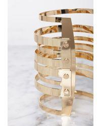 Forever 21 | Metallic Gradated Cutout Cuff | Lyst