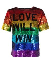 Ashish - Multicolor 'Love Will Win' Sequinned Top - Lyst