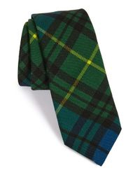 Todd Snyder | Green 'signature' Plaid Wool Tie for Men | Lyst