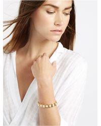 BaubleBar - Metallic Pearl Box Bracelet - Lyst