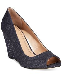 Style & Co. | Blue Style&co. Cecelie Evening Wedge Pumps | Lyst