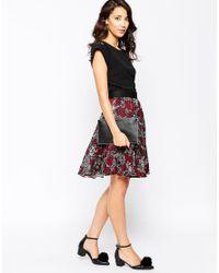 Closet - Black Lace Back Blouse - Lyst