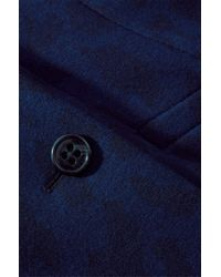 BOSS Orange - Blue Wool Blend Coat 'Ofrieda' - Lyst