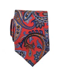 Black.co.uk | Red Bariano Paisley Italian Silk Tie Description Delivery & Returns Reviews for Men | Lyst