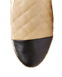 Steve Madden | Natural Palamo Quilted Espadrille Platform Sneakers | Lyst