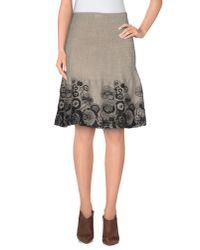 Roberta Scarpa - Gray Knee Length Skirt - Lyst