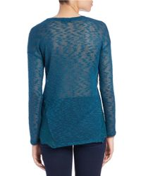 Jessica Simpson - Blue Hi-lo Knit Sweater - Lyst