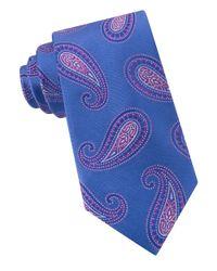 Michael Kors | Blue Paisley Silk Tie for Men | Lyst